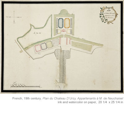 18th 19th century european garden plans for Garden design 18th century